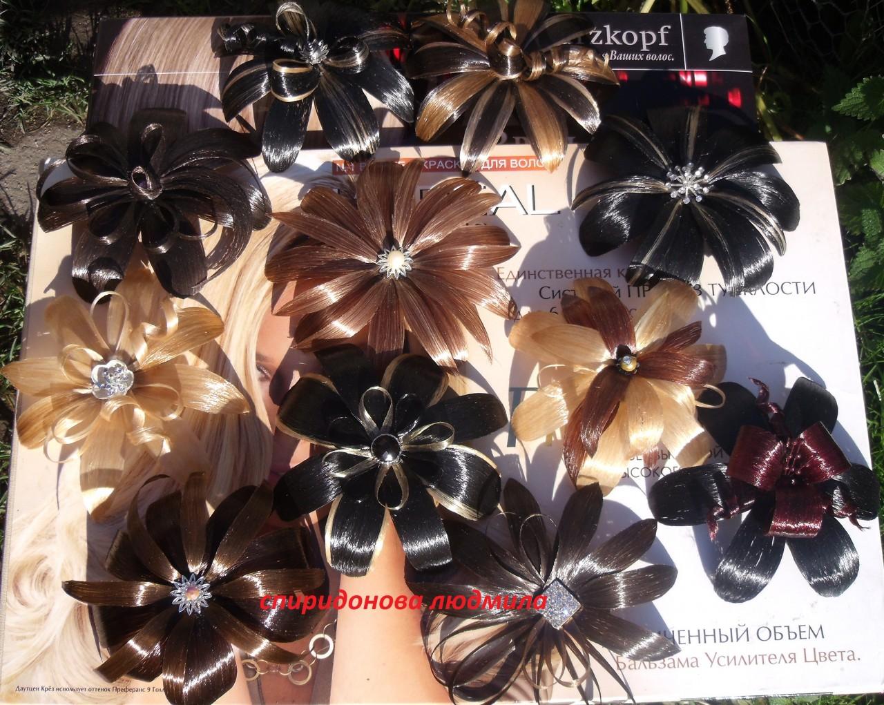 Украшения для волос своими руками из искусственных цветов