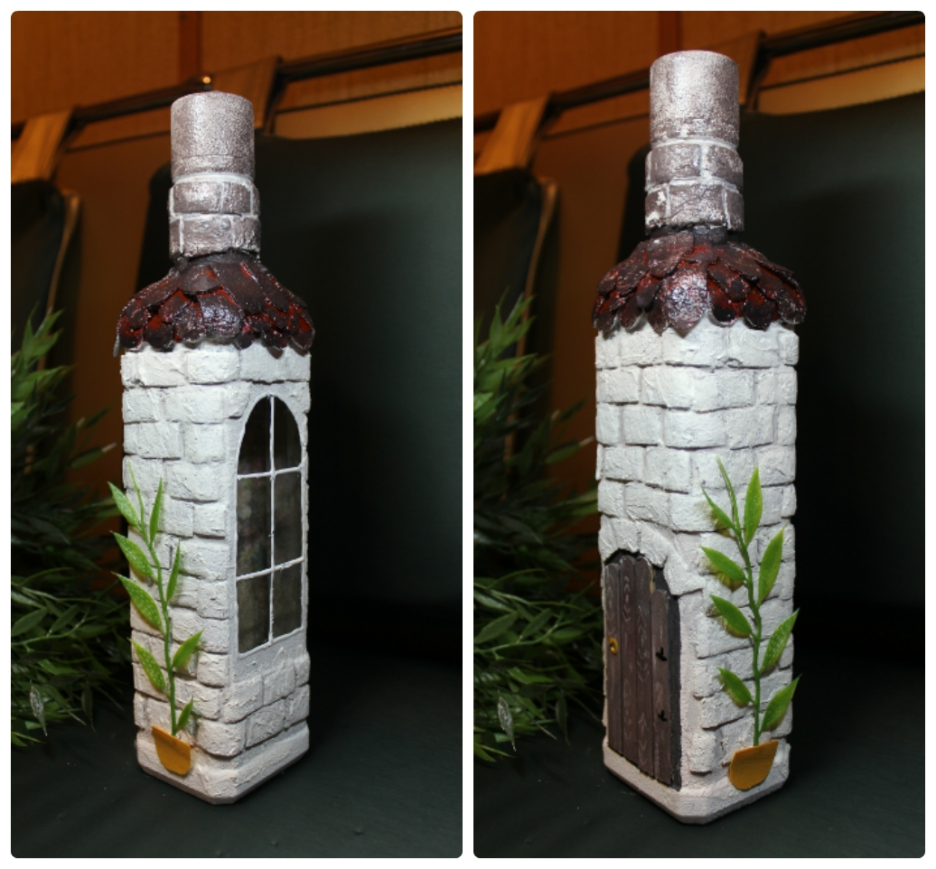 Украшаем пустые бутылки своими руками