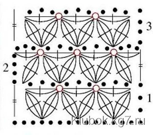 Схема звёздочки крючком