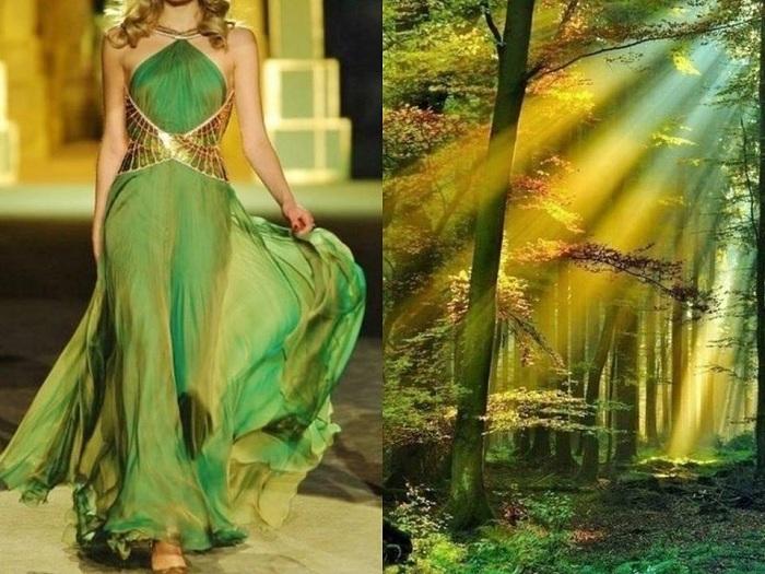 Вдохновение от природы: впечатляющие параллели между дизайном платьев и изумительными пейзажами