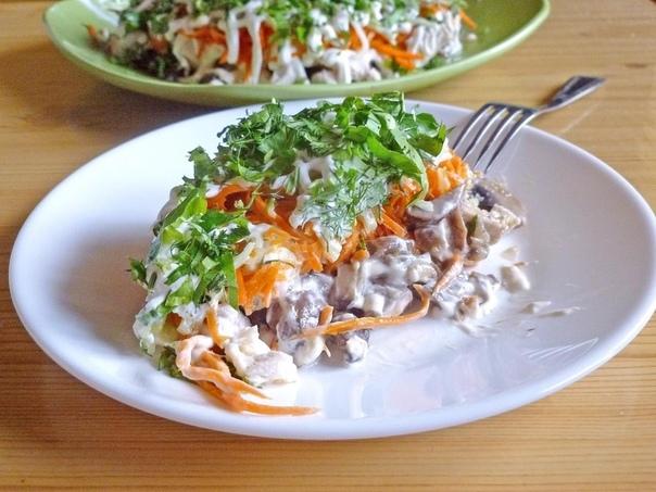 Салат, который уделал даже оливье — салат с жаренными шампиньонами!