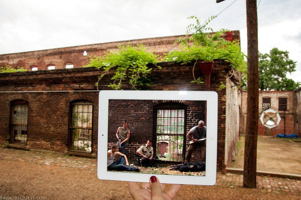 Фотографии с мест съёмок сериала «Ходячие мертвецы»