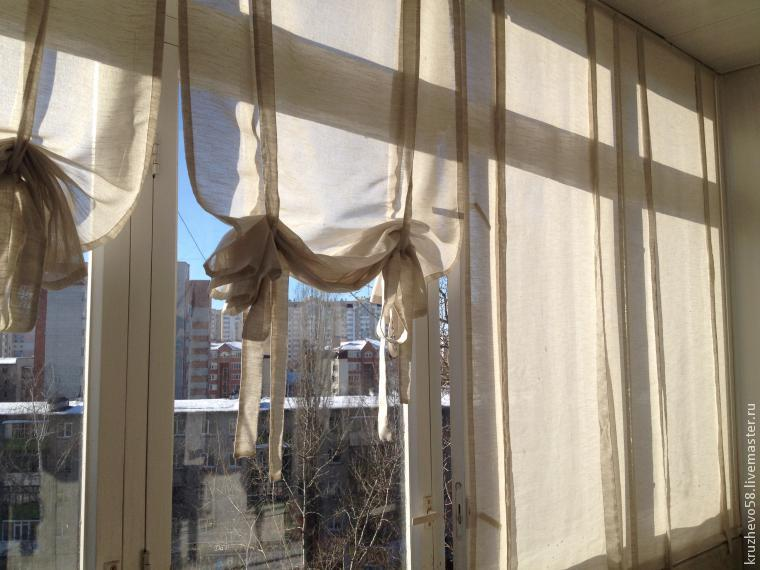 Как сшить стильные шторы для лоджии.
