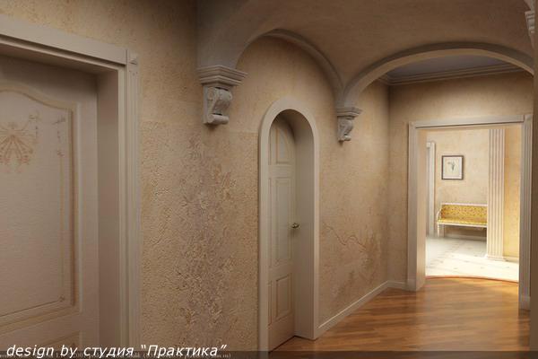 Ремонт коридора с аркой