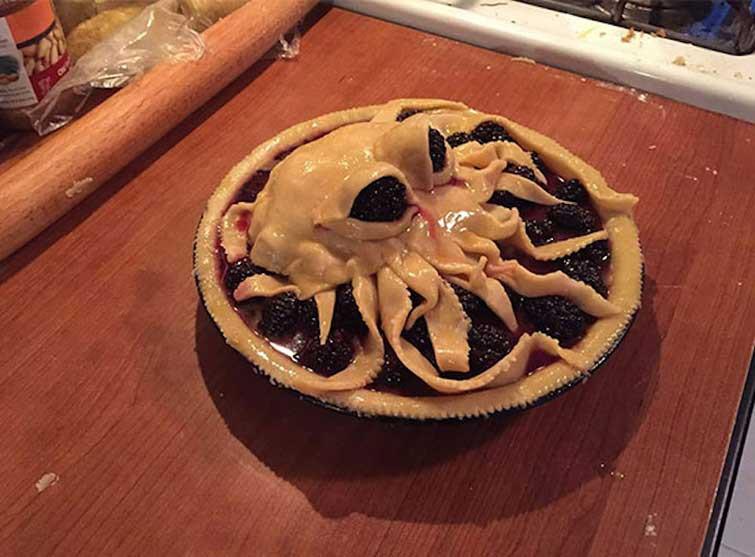 Пирог-осьминог выпечка, красивая еда, кулинария, пироги