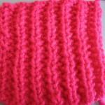 Граненая резинка (уроки вязания спицами)