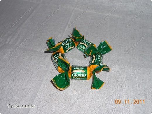 Увидела однажды в интернете ананас из конфет и заболела! Стала интересоваться как это делается, и что это за техника и что еще можно сотворить из конфет. Оказалось, что это свит-дизайн, который покорил и захлестнул меня всецело! . Фото 6