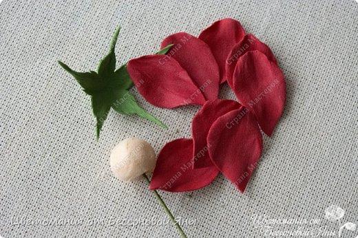 Мастер-класс Флористика искусственная Моделирование конструирование Мастер-класс со созданию бутона розы из фоамирана Фоамиран фом фото 8