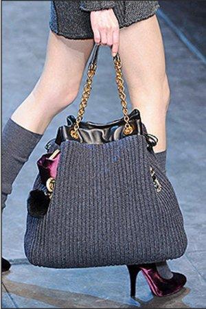 Вязаные сумки от Dolce&Gabbana