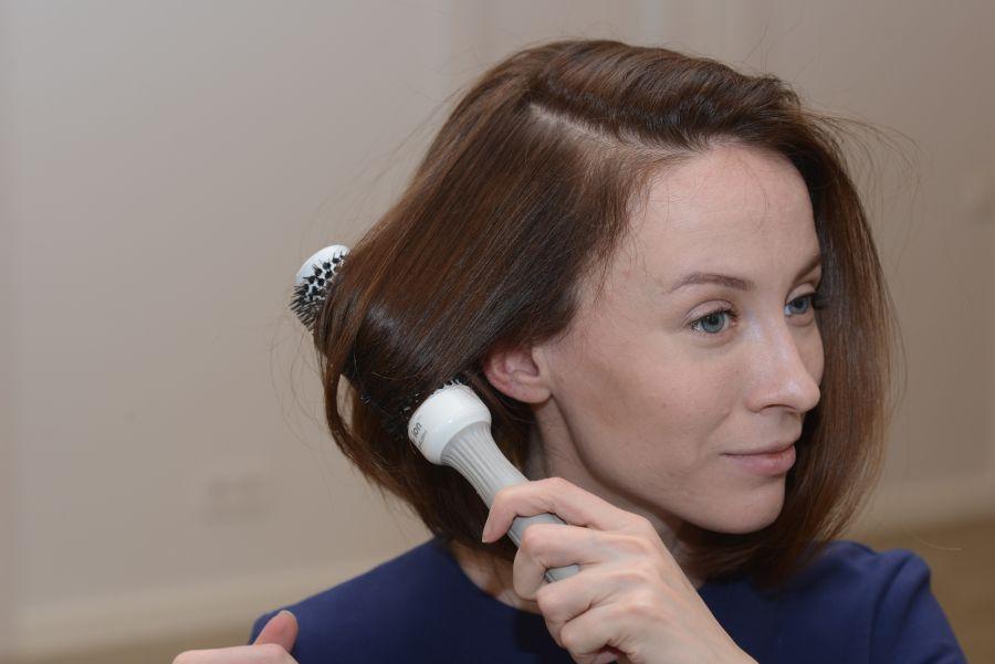 Укладка волос феном и щеткой…