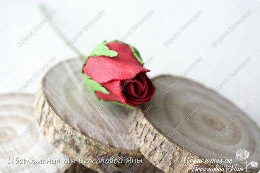 Мастер-класс Флористика искусственная Моделирование конструирование Мастер-класс со созданию бутона розы из фоамирана Фоамиран фом фото 19