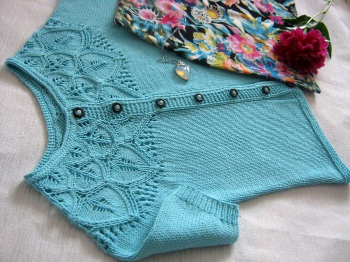 Узоры для вязания кофт сверху спицами