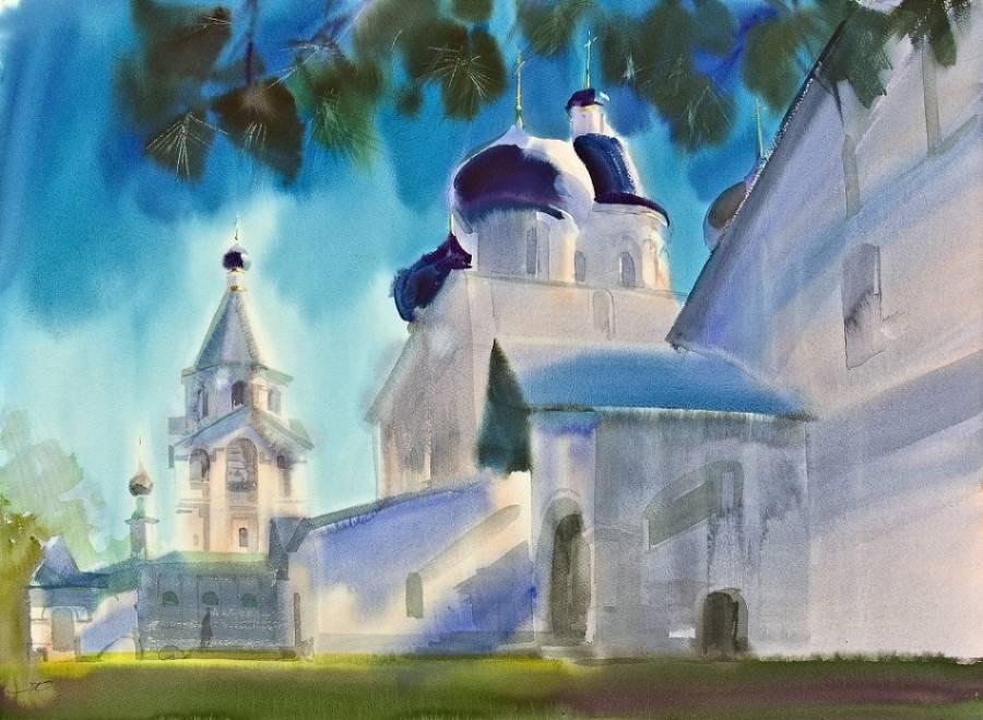 Обитель под небом лазурным, художник Юрий Ломков