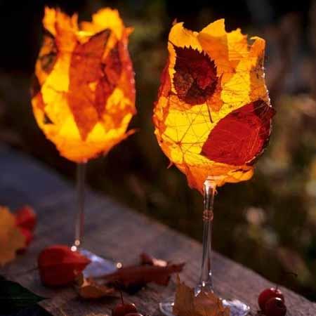 поделки из осенних листьев для сада