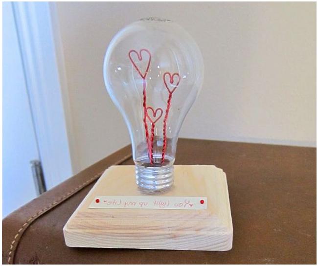 Как сделать своими руками подарок из лампочки