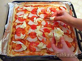 Тонкая пицца рецепт пошагово с в