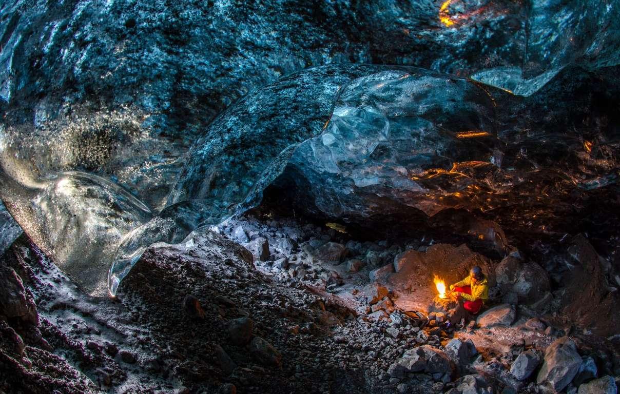 Потусторонняя пещера в леднике Ватнаёкуль-1