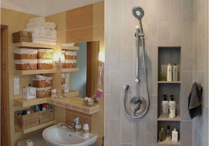 Хранение в ванной: 23 крутых идеи для любого пространства