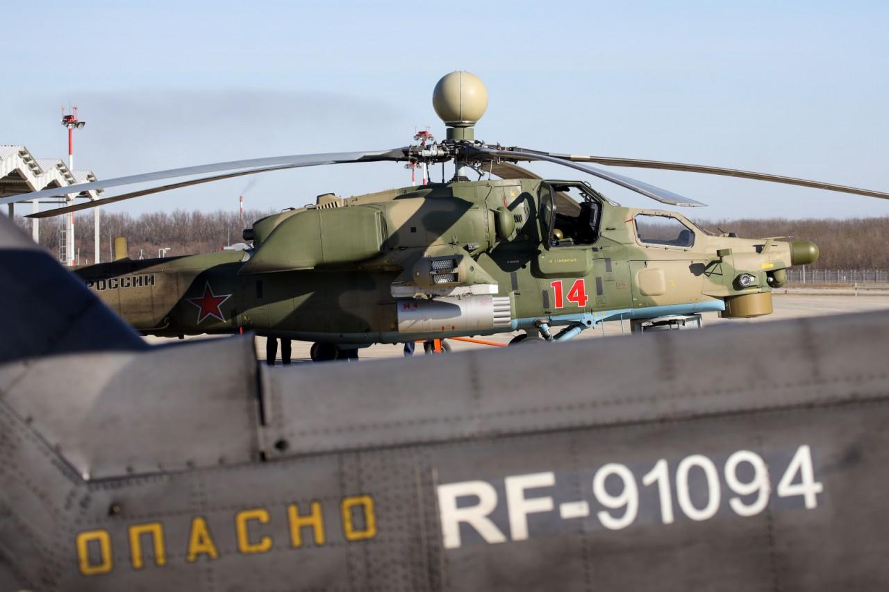 ВКС России получили семь вертолетов Ми-28Н, Ми-28УБ и Ми-35М