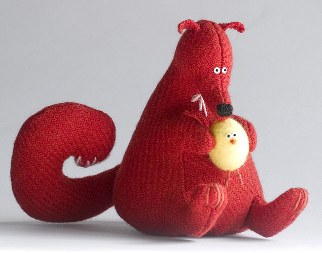Чудесные авторские игрушки из ткани