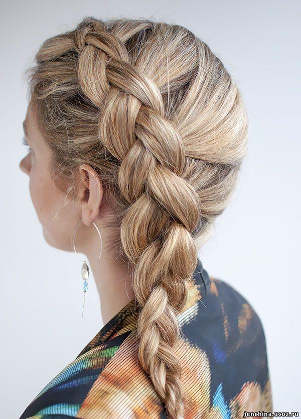 Плетение из длинных волос фото