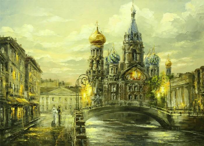 городской пейзаж Игорь Кирсанов - 01