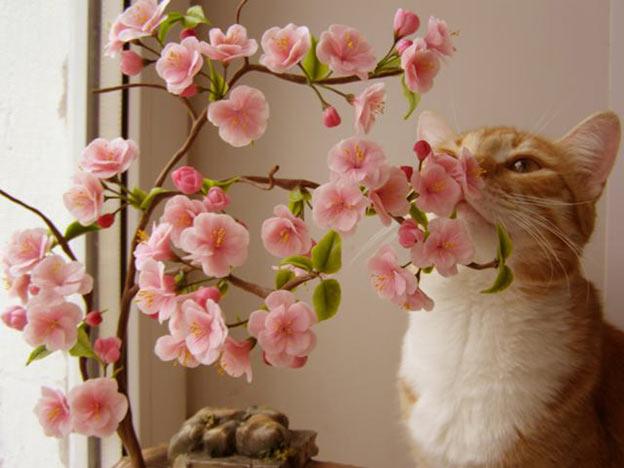Как сделать цветы сакуры своими руками
