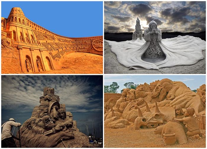 20 восхитительных песчаных скульптур (20 фото)