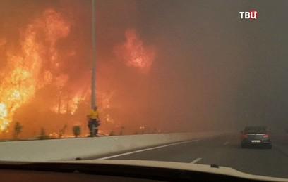 Пожары в Греции подбираются к острову Родос