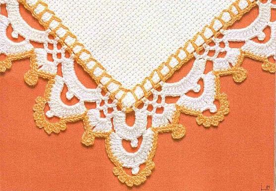 Вязание каймы крючком со схемами для юбки