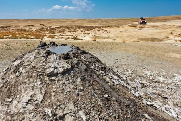 Грязевой вулкан Джау-Тепе крым, отдых, природа