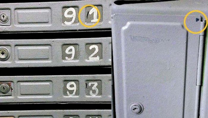 Таинственные метки на почтовых ящиках многоквартирных домов  метки, почтовый ящик