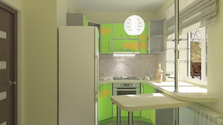 Дизайн кухни шириной 2 м фото.