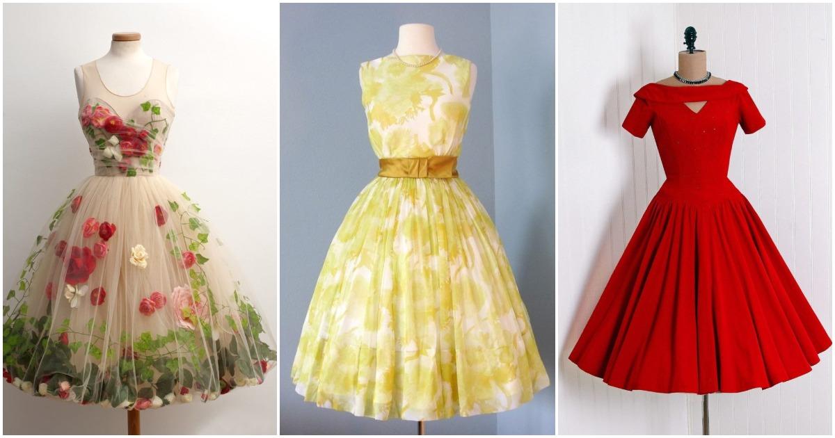 Очарование винтажных платьев: 18 моделей для женственного образа