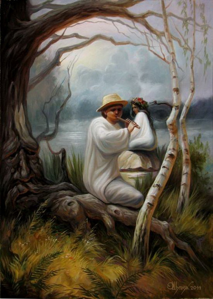 Необычные картины Олега Шупляка. Художник спрятал несколько лиц на каждой из своих картин