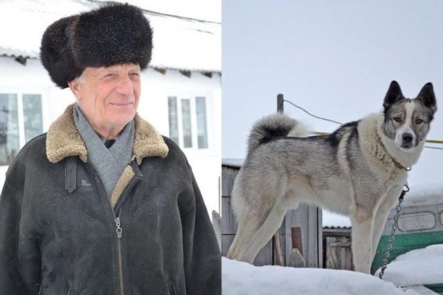 В Новосибирской области собака привела помощь к хозяину, провалившемуся под лед.