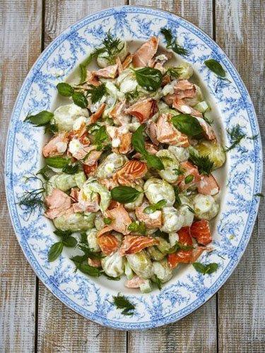 Салат с лососем — Рецепты Дж…