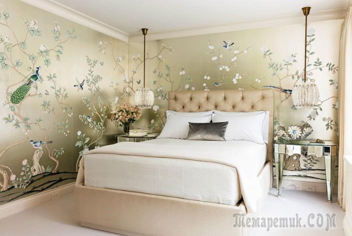 Выбор обоев для спальни: диз…