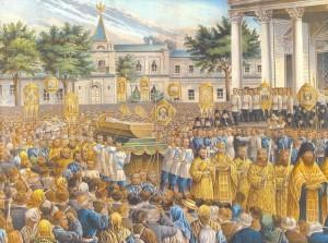 обреобретение мощей прп. Серафима Саровского, крестный ход