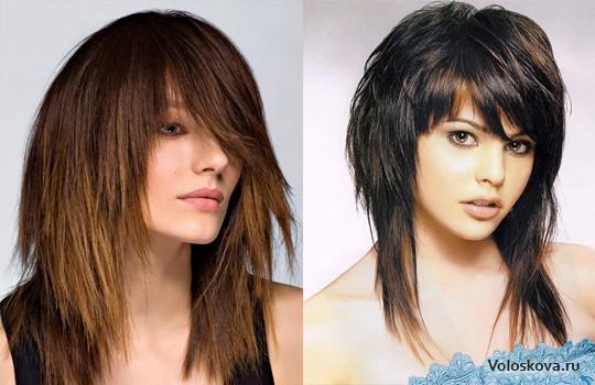 Женская стрижка на тонкие волосы круглое лицо
