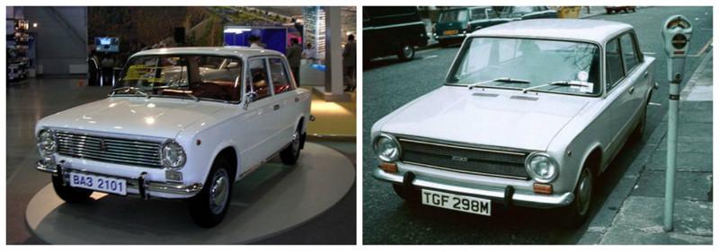 ВАЗ-2101 (1970-1988)-Fiat-124(1966-1974) автомобили, история, ссср, факты