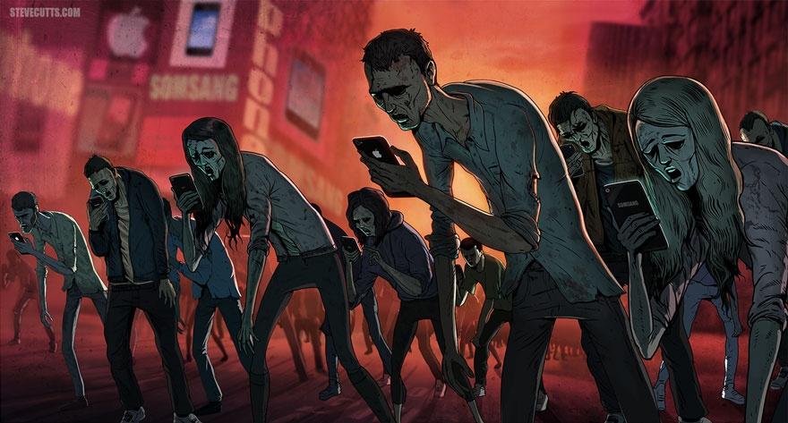 Печальная правда о современном мире в иллюстрациях Стива Каттса