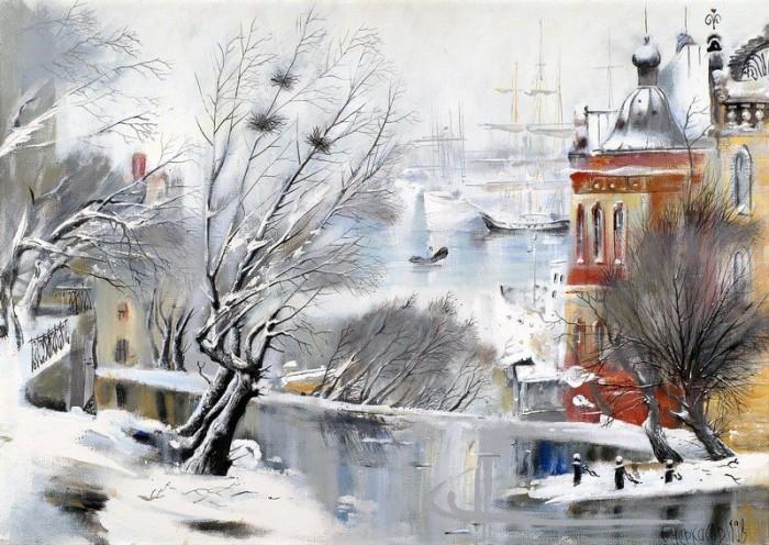 городской пейзаж Сергей Чижов - 04