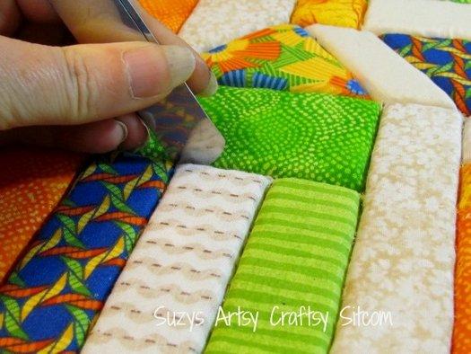 пример изготовления картины из ткани на пенопласте