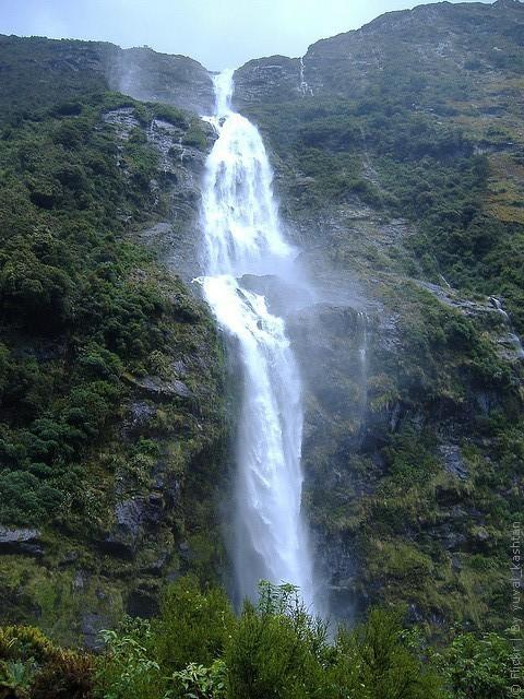 6.  Водопад Сазерленд водопады, красота, природа