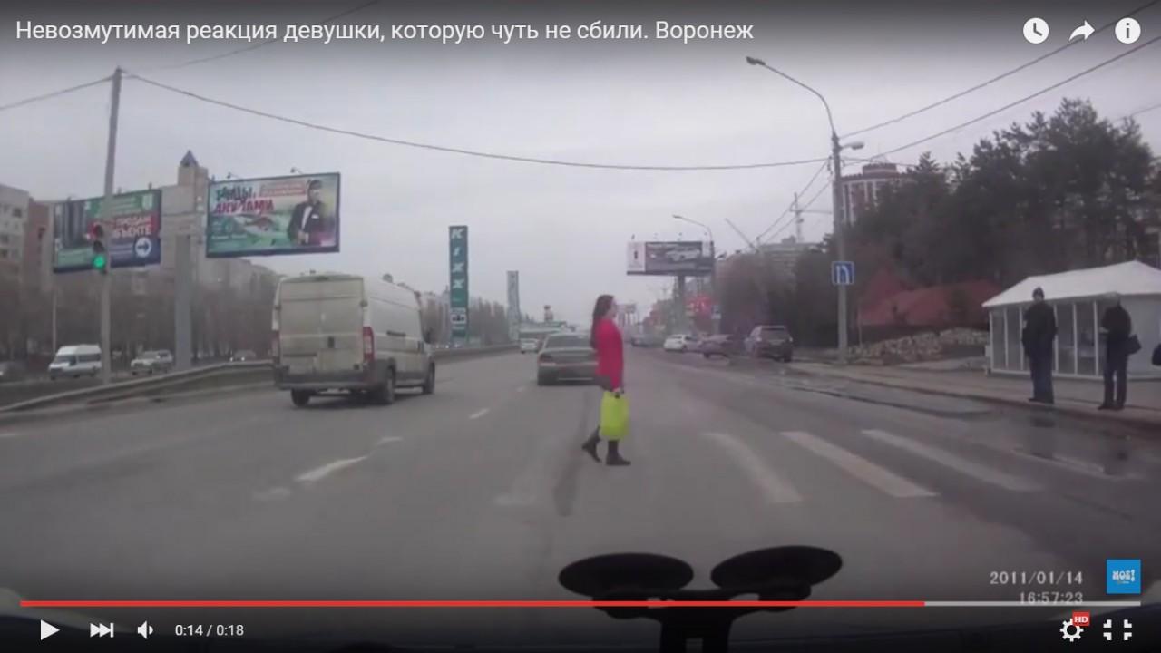 Самка человека переходит дорогу