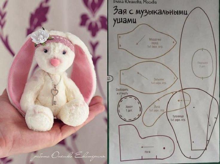 Сшить мягкую игрушку кролика своими руками