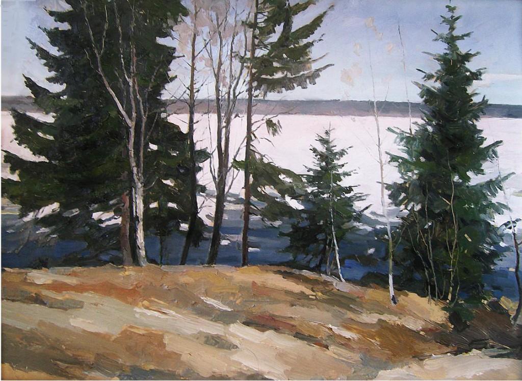 Апрель на Белом озере