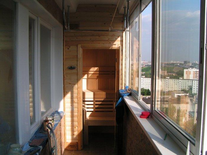 Как сделать сауну на балконе