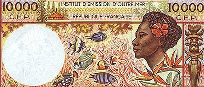 Французская Полинезия — 10 000 французских франков деньги, интересное, красота, рейтинг